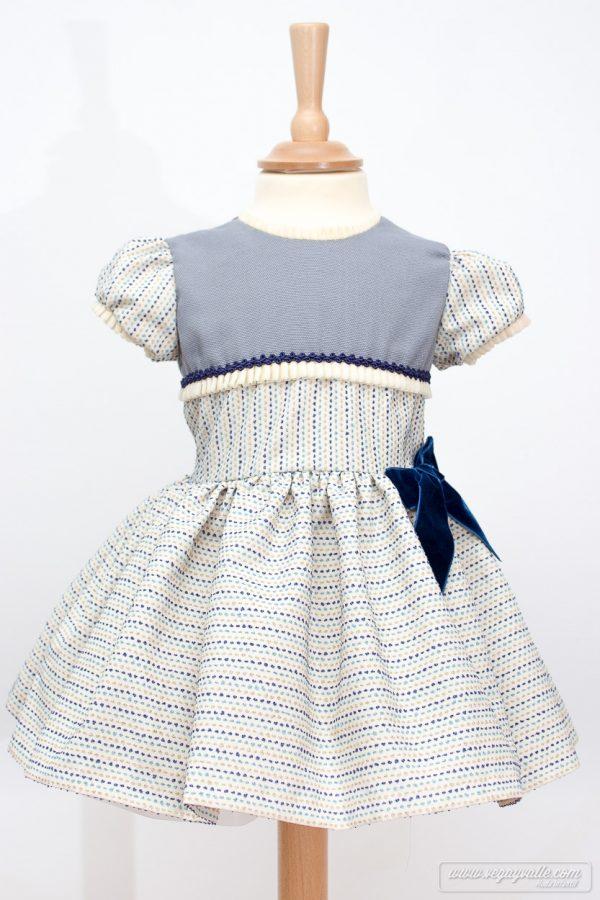 Vestido para niña · Modelo Nenufar · Vega y Valle