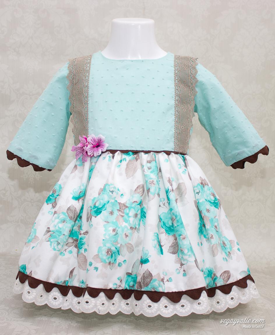 3f7030f2a vestido para niña de 1 a 5 años modelo Lago Turquesa otoño-invierno 2015-