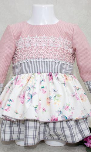 vestido para niña de 1 a 4 años modelo Ópalo otoño-invierno 2015-2016 Vega y Valle