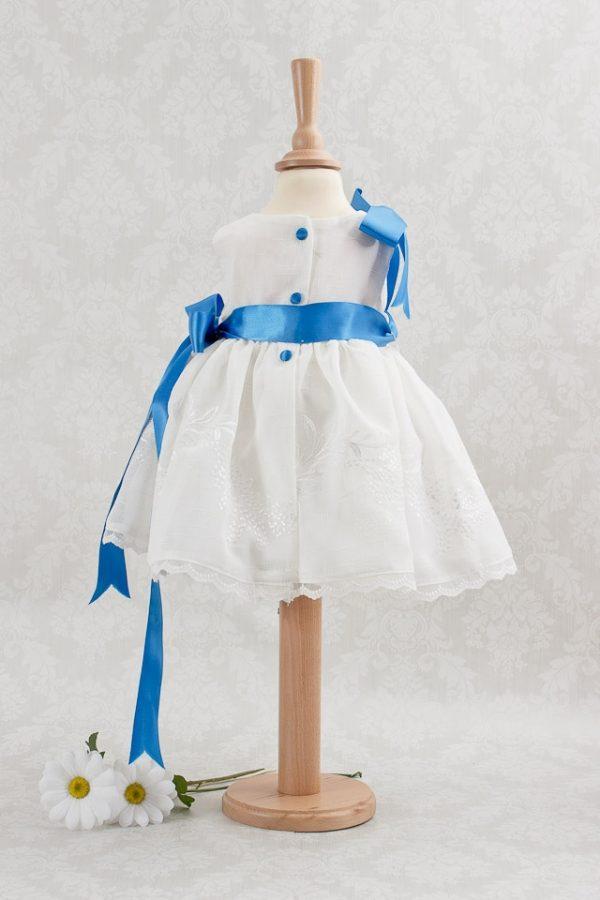 Vestido para niña de 1 a 4 años color blanco arras y cermonia
