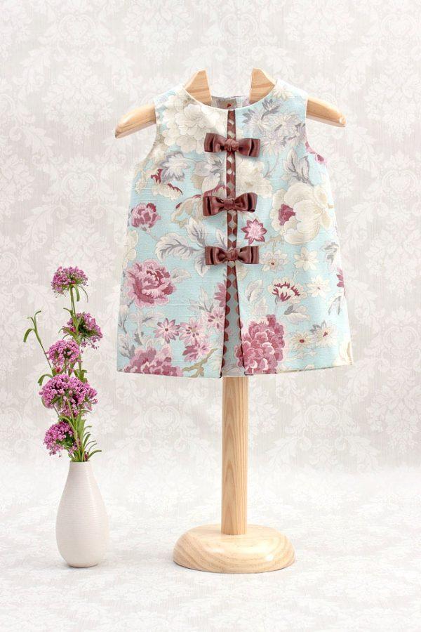 vestido de niña primavera casi verano marrón