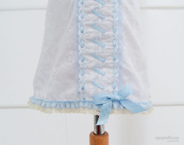 Jesusito para bebe en blanco y azul celeste