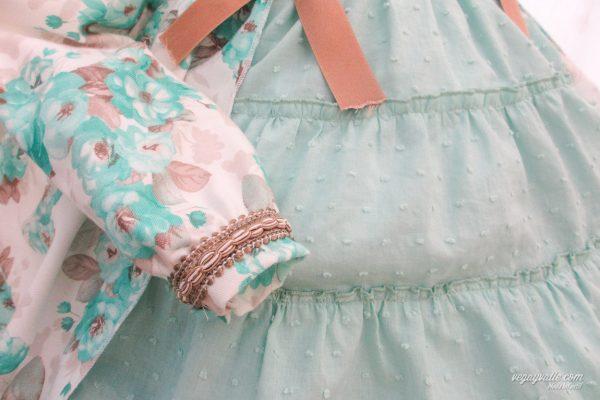 Vestido para niña color verde Modelo Acacias.