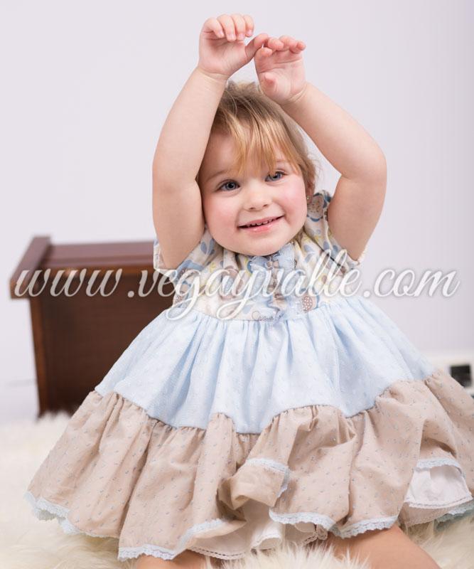 ddfffced2 Jesusito para niña anis y chocolate colores azules y marrones | Vega ...